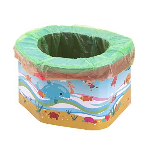 Vasini WC portatile usa e getta per bambini,Porta il bambino fuori a giocare e risolvi il problema del bambino che va in bagno CXF (Color : Blue)