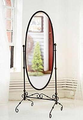 Dipamkar®Große Vintages Freistehend Spiegel Ganzkörperspiegel Ankleidespiegel Spiegel Verfassungs-Spiegel H190ΧW72ΧD55cm