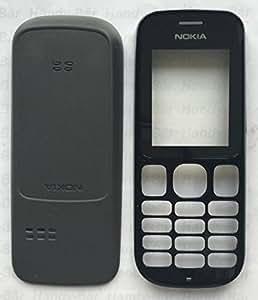 Batterie d'origine Nokia 101Front Cover + Couvercle boîtier noir couvercle de A Couvercle de batterie pour