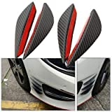 PINZU 4Pcs Air Knife Carbon Auto Front Bumper Protector Lip Splitter Styling for All Cars