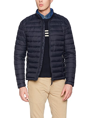 edc by ESPRIT Herren Jacke 107CC2G011, Blau (Navy 400), Medium