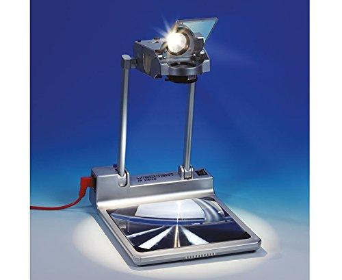 Visulight Kofferprojektor M 2400, Tageslichtprojektor, tragbar, helle 2400 Lumen, mobiler Overhead-Projektor, OHP, Präsentation Klassenzimmer, 3-linsiges Focus-Objektiv, 24 V / 250 Watt