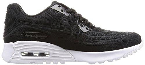 Nike W Air Max 90 Ultra Plush, Chaussures de Running Entrainement Femme Noir / Noir-blanc