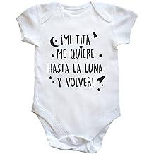 HippoWarehouse ¡Mi tita me quiere hasta la luna y volver! body bodys pijama niños niñas unisex