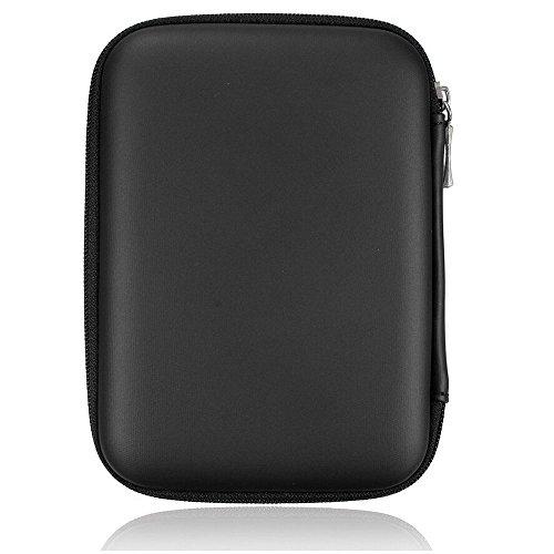 Hard disk portatile antiurto Custodia con zip 2.5 HDD, colore: nero