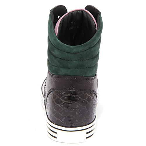 1477Q sneaker donna HOGAN REBEL nero/verde/blu shoe woman nero/verde/blu