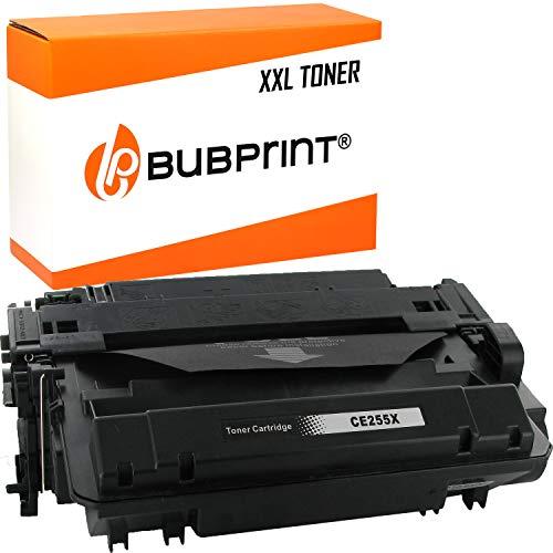 Bubprint Toner kompatibel für HP 55X CE255X für Laserjet Enterprise P3015 P3015D P3015DN P3015N P3015X Pro M520 Series M521DN M521DW Schwarz Black
