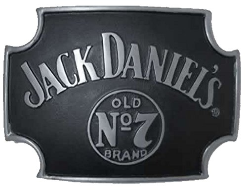 BUCKLEBOX JACK DANIEL'S CROSS OLD NO 7 Gürtelschnalle mit Präsentierständer - Offiziell lizenziertr -