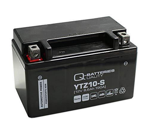 Q-Batteries Motorrad-Batterie YTZ10-S AGM 12V 8,6Ah 190A