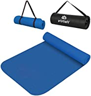 VIFITKIT Non Slip Yoga Mat with Shoulder Strap and Carrying Bag, High Density Yoga mats for Home, Gym & Ou