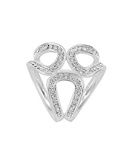 Huyizhi Silk Schals Clip Wrap Stolen Halter Strass Clip Schnalle 3 Ring Löcher Zubehör Ornament -