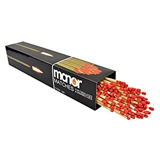 Manor Box of Extra Long Matche, Fireside Long Mathes Fireplace, BBQ, Stoves