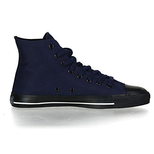Ethletic Black Cap HiCut / High-Sneaker Collection 17 aus Bio-Baumwolle – dunkelblau / schwarz - 5