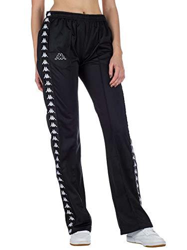 Kappa Pantalón WASTORIA Snaps Pants 909 Black White