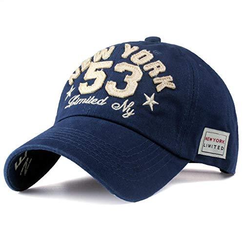 Unexceptionable-Baseball Caps Baseballmützen Cotton Letter Men und Women'snapback Do Old Motorcycle Hat 8 Farben Hip Hop Jeans @Navy_Blue -