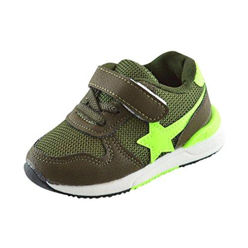 Dragon868 Baby Schuhe, Kleinkind Kinder Sport Laufschuhe Babyschuhe Jungen Mädchen Sterne Mesh Schuhe Turnschuhe (Alter:2-2.5T~24, Grün) (Schuhe Kleinkind-grün)