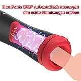 Automatischer Masturbator für Männer Masturbieren Sexspielzeug Mann Cup Taschenmuschi Sex Toys 10 Vibrationsmodi und 10 Penis Saugfunktion Saugfunktion Wie Mund