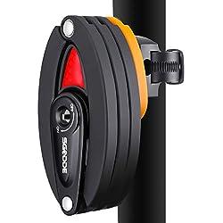 SGODDE Candado para Bicicleta, Super B Antirrobo Cerradura de Bicicleta Plegable Enlace de 8 Secciones Longitud 85cm Adecuado para Bicicleta y Vehículos Eléctricos de Bicicleta, etc.