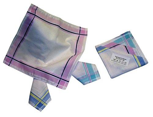 Teichmann Damen Stofftaschentuch I Stoff-Taschentücher I 6-er Pack I 100% Baumwolle I 30 x 30 cm (Taschentücher Bestickte Damen)