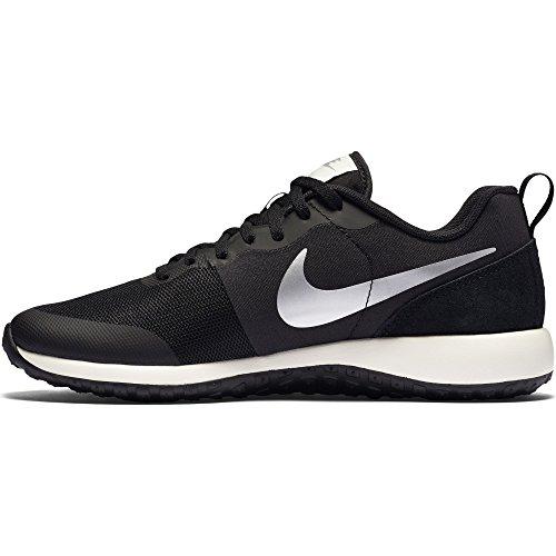 Nike Wmns Elite Shinsen, Chaussures de Sport Femme Noir - Negro (Black / Metallic Silver-Sail)