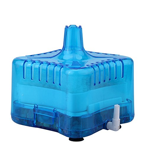 Acuario Biológica Pecera Agua Filtro 7.8x7.8x6.8CM ( Azul )