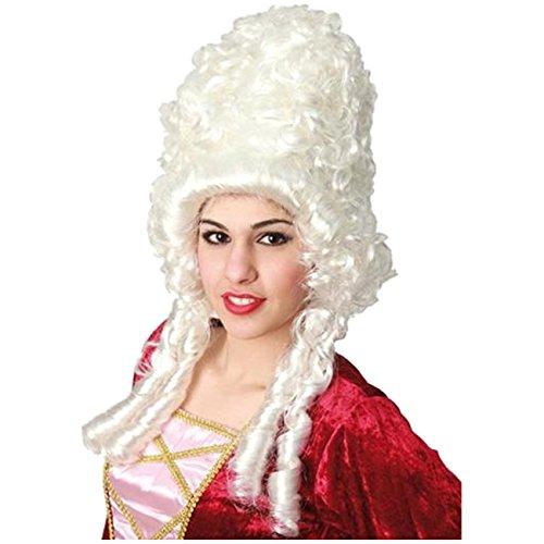 Perücke Baroness weiße Lockenperücke adlige Dame Barockperücke
