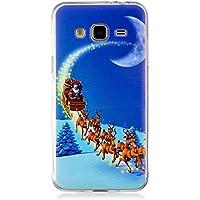 Samsung Galaxy J3 /J310 Hülle, Carols Schutzhülle Silikon Transparent mit Weihnachten Muster Motiv Handyhülle [Ultra Dünn] Slim Stoßfest Weich TPU Bumper Case Backcover für Samsung Galaxy J3 /J310 (5,0 Zoll) Smartphone - Weihnachtsnacht