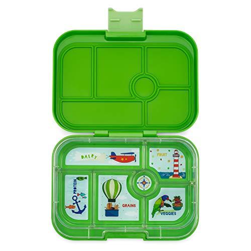 Yumbox Original M Lunchbox - 6 Fächer, mittelgroß | Brotdose mit Trennwand Einsatz | Bento Box für Kindergarten Kinder, Schule, Erwachsene (Cilantro Green) (Baby Lunch Box)