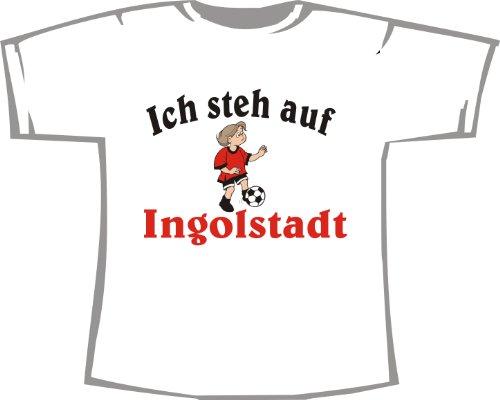 Ich steh auf Ingolstadt; Kinder T-Shirt weiß, Gr. 9-11