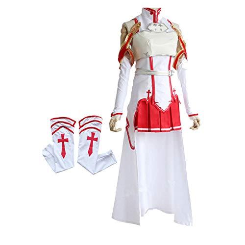ZY Anime kostüme weiß Schlacht anzüge Cosplay Dress up täglichen kostüme Film kostüme Halloween Anime Frauen Spielen kostüme,Full Set-S