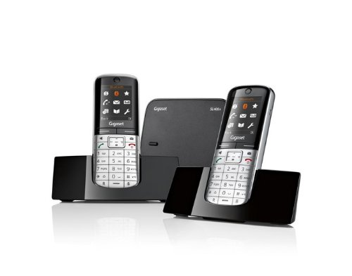 gigaset-sl400a-twin-dect-bluetooth-cordless-phone-black-silver