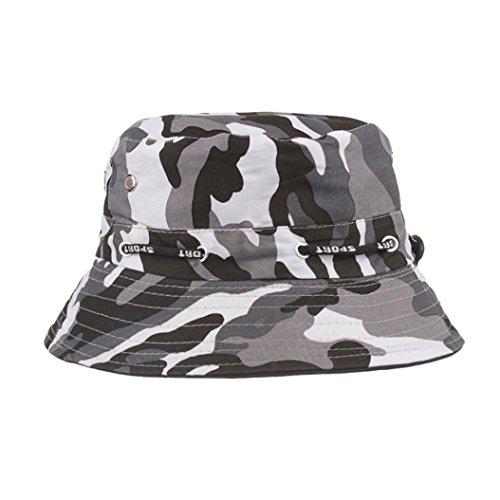 Fuibo Fischerhut für Herren und Damen, Einstellbare Cap Camouflage Boonie Hüte nepalesische Kappe Army Mens Fischer Hut (Schwarz)