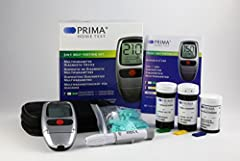 Idea Regalo - PRIMA 3in1 misuratore Glucosio Colesterolo Trigliceridi + 25 strisce colesterolo + 25 strisce trigliceridi + 50 strisce glucosio
