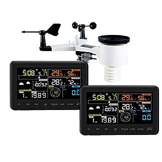 Froggit Estación meteorológica WH3000 SE (2018) Twin (Dos Pantallas) a Internet Wi-Fi, App