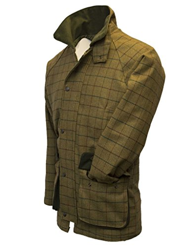 Walker and Hawkes Herren Country-Jacke aus Tweed - für die Jagd geeignet - Beige - Größen XS bis 4XL - Tweed Duffle