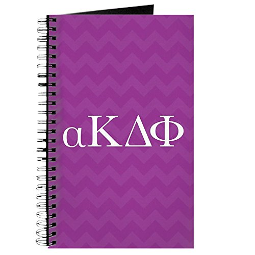 CafePress - Alpha Kappa Delta Phi Letters - Spiralgebundenes Tagebuch, persönliches Tagebuch, blanko