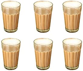 Art. Lite.100 ml Traditional Tea Glass - (Pack of 6, Glass)