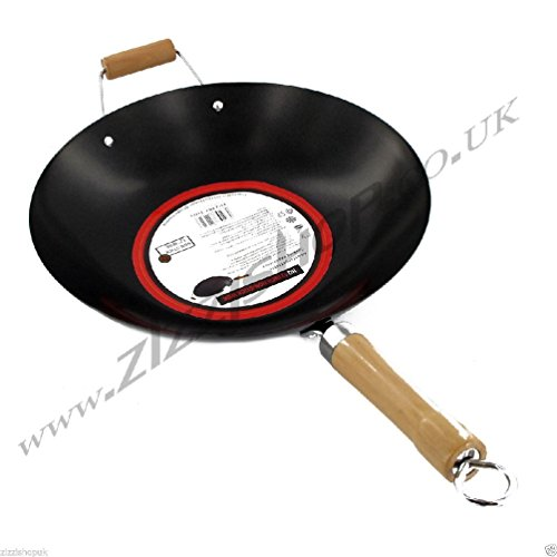 12-nonstick-wok-fry-frying-stir-pan-non-stick-steel-cooking-with-wooden-handle
