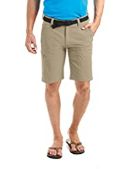 MAIER SPORTS Herren Bermuda Huang aus 90% PA 10% EL in 32 Größen, Outdoorhose/ Funktionshose/ Shorts inkl. Gürtel, bi-elastisch, schnelltrocknend und wasserabweisend