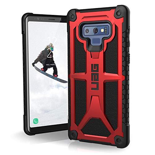 Urban Armor Gear Premium Monarch Schutzhülle nach US-Militärstandard für das Samsung Galaxy Note 9 (crimson rot) [Verstärkte Ecken, Sturzfest, Leder, Strukturierter Rahmen]-211051119494 -