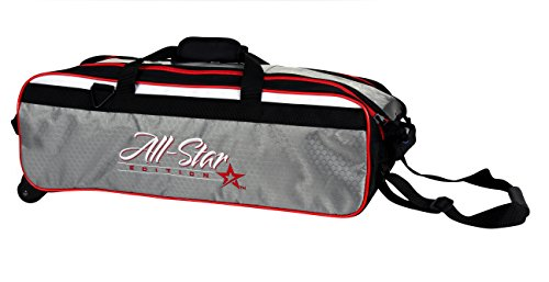 Roto-Grip 3Ball Travel Roller Bowling Bag All Star Edition (Bälle 3 Ball Travel Roller Bowling Bag All Star Edition, Slate/Black/White/Red (Bowling Bag Für Einen Ball)