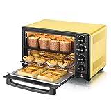 Haushaltseinsatz Mini-Elektro-Oven Precise Temperature Control 0-230 ° C, Timing 1600W Drei-Layer Multi-Function Beleuchtung Ofen (32L)