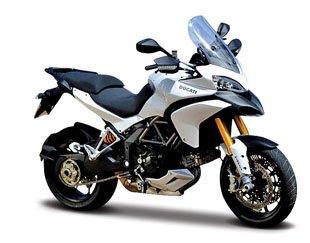 Motorrad Modell Ducati Multistrada 1200 S weiss - Maisto 1:12 von Maisto
