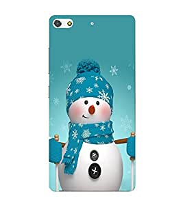 Snowman 3D Hard Polycarbonate Designer Back Case Cover for Gionee S7