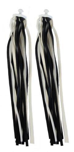 Lenkerfransen Streamer, schwarz weiß