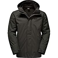 Jack Wolfskin Herren Echo Lake 3-in-1 Jacke, Dark Iron, M
