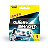 Gillette Mach 3 Manual Shaving Razor Blades - 4s Pack (Cartridge)