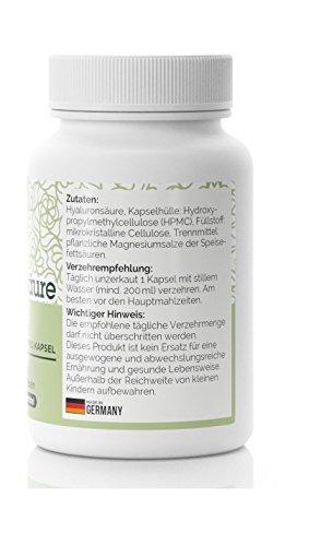 Hyaluronsäure Kapseln Anti-Falten Hautverjüngung – hochdosiert 250mg • 60 Kapseln (2 Monatsvorrat) • Vegan • Hergestellt in Deutschland - 2
