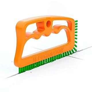 Fugenbürste Fuginator® orange/grün - Bürste zur Fugenreinigung in Bad, Küche und Haushalt