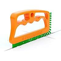 Fuginator® Deine patentierte Fugenbürste orange/grün - Bürste zur Fugenreinigung in Bad, Küche und Haushalt